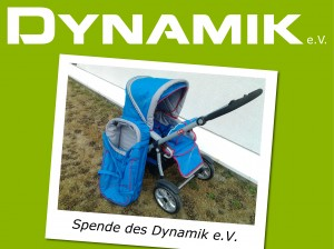 Dynamik e.V. spendet Kinderwagen an junge Mutter